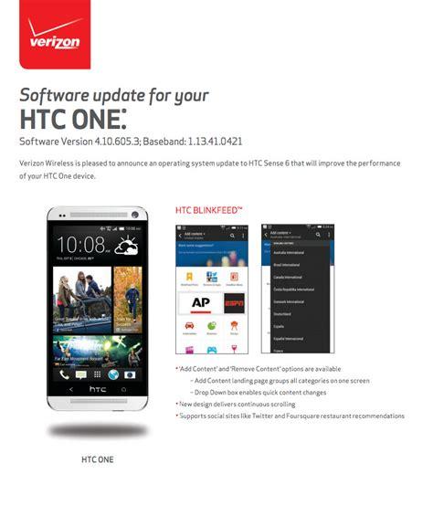update verizon phone verizon htc one m7 sense 6 0 update rolling out now