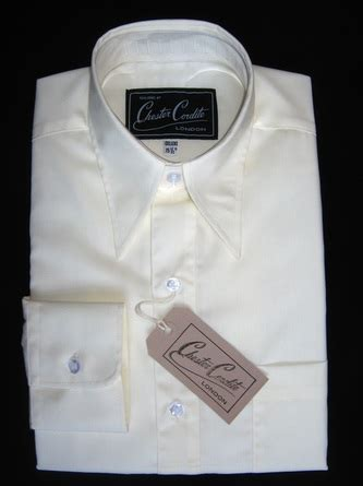 key largo cream spear point collar shirt  chester cordite