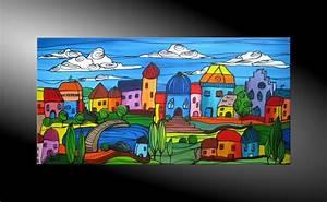 Moderne Kunst Leinwand : atelier mico city fantasies no 39 acryl malerei ~ Markanthonyermac.com Haus und Dekorationen