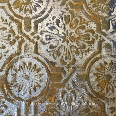 faux rustic tin tile created  textured paintable