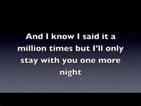 maroon 5 you and i go hard lyrics one more night maroon 5 official lyrics youtube