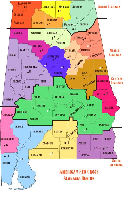 map  alabama cities counties state map  usa