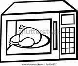 Microwave Oven Clipart Chicken Inside Clip Turkey Micro Clipartpanda Shutterstock Vector Cliparts Panda sketch template