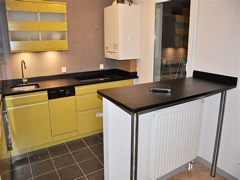 pied plan de travail cuisine plan de travail bar cuisine une cuisine ouverte avec plan