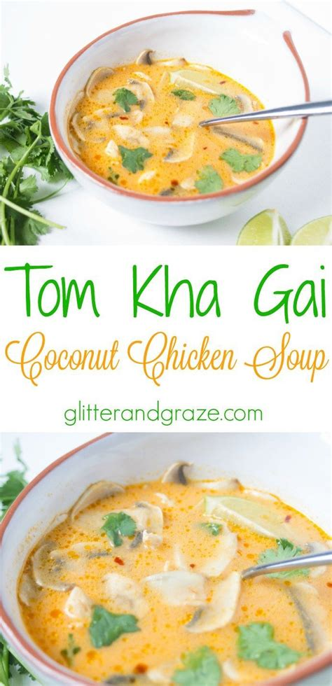 tom kha suppe tom kha gai coconut chicken soup spicy thai