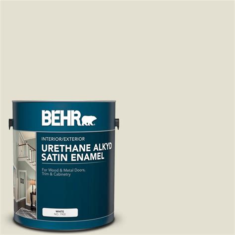 behr 1 gal 400e 2 turtle dove urethane alkyd satin enamel interior exterior paint 790001 the