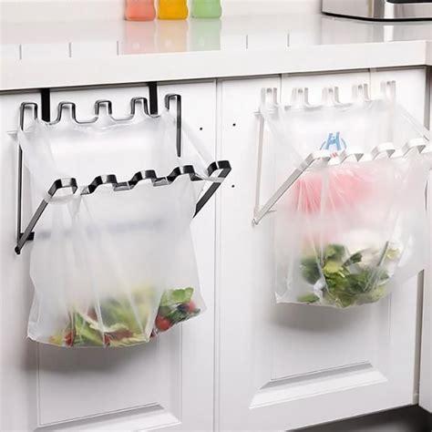 multi function kitchen organizer garbage bag hanging holder hanger storage rack household