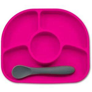 Bblv - Ymi Anti-Spill Silicone Suction Plate & Spoon Set ...