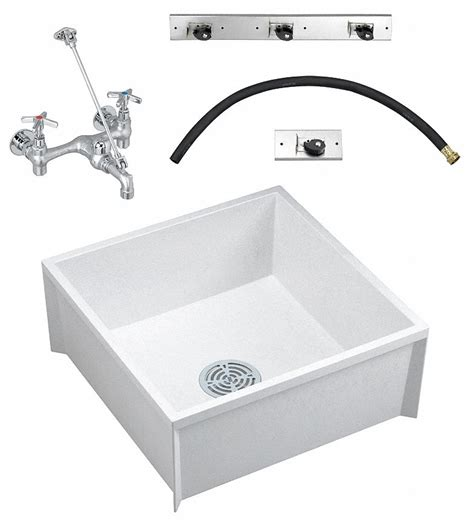 Fiat Sink by Fiat Products 24 Quot X 24 Quot X 10 Quot White Mop Sink Kit 9 1 2