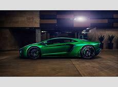 Wallpaper Lamborghini Aventador, Green, 2016, Automotive