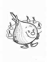 Onion Coloring Pages Vegetables Garlic Apple Recommended Potato Template sketch template