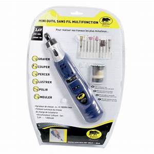 Outil Multifonction Sans Fil : rhino mini outil sans fil 3 6v li ion avec accessoires ~ Dailycaller-alerts.com Idées de Décoration