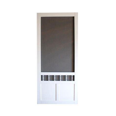 vinyl screen doors diy 32 in white vinyl screen door lowe s canada
