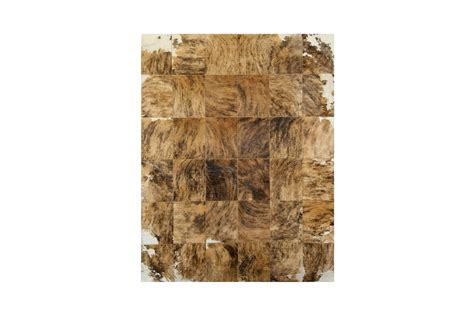 Patchwork Cowhide by Patchwork Cowhide Rug K 145 Edgy Swirled Fur Home