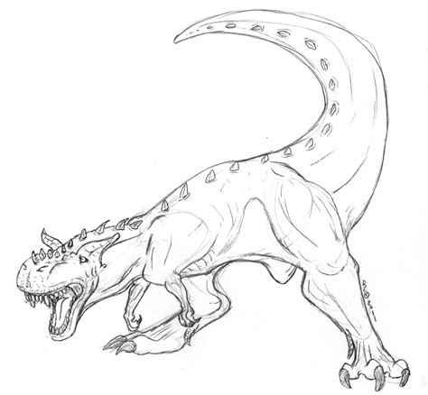 Gallimimus Kleurplaat by Carnotaurus Coloring Pages Coloring Pages