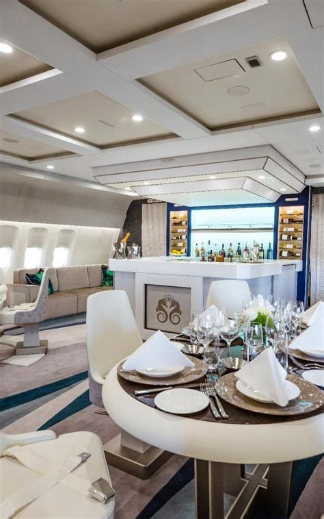 worlds  luxurious private jet  board