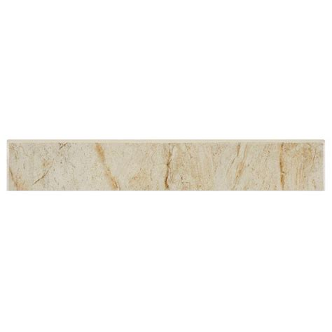 Bullnose Tile Trim Home Depot by Merola Tile Marfil Bullnose 3 In X 17 3 4 In