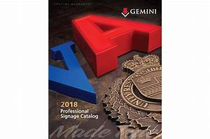 new 2018 canadian professional signage catalog now With gemini letters wholesale