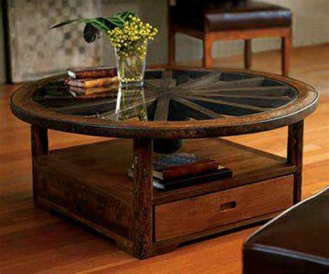 wagon wheel coffee table wagon wheel coffee table diy crafts ideas pinterest