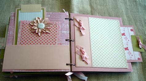 scrapbooking  phyllis premade  paper bag baby girl