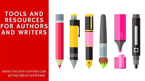 Writing Tools by Tools And Resources For Authors And Writers The Creative