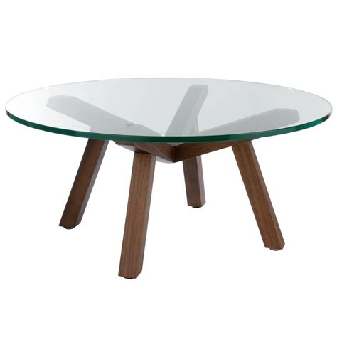 Emerson rectangular mod swivel modern coffee table with the table is made of real wood making it a sturdy and roomy coffee table option for your living room. 30 Best Round Glass and Wood Coffee Tables