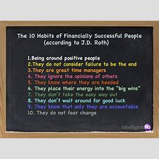 The 10 Habits Of Financially Successful People