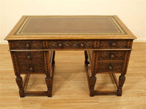 unfinished oak writing desk a solid oak jacobean revival antique writing desk 240906