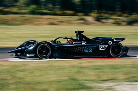 Check out our first full electric car. Mercedes-Benz completes first test of Formula E race car