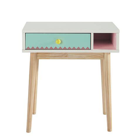 bureau enfant en bois blanc l 60 cm berlingot maisons du monde