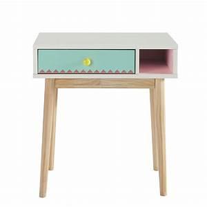 Bureau Enfant En Bois : bureau enfant en bois blanc l 60 cm berlingot maisons du ~ Teatrodelosmanantiales.com Idées de Décoration