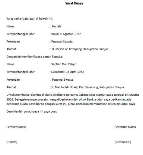surat kuasa lengkap  berbagai keperluan seruniid
