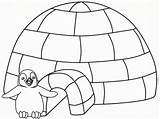 Coloring Igloo Sheets Coloriage sketch template