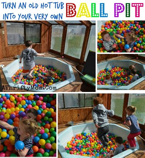 Turn An Old Hot Tub Into A Ball Pit For Your Kids