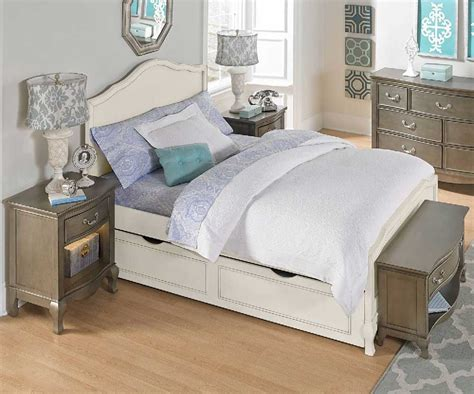 alexandria panel bed  antique white kids furniture