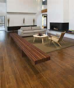 bamboo flooring just trying to get the look of it enmass with a concrete bench and mid century