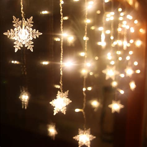snowflake string lights outdoor aliexpress com buy connect 216pcs 5m 96pcs 3m led
