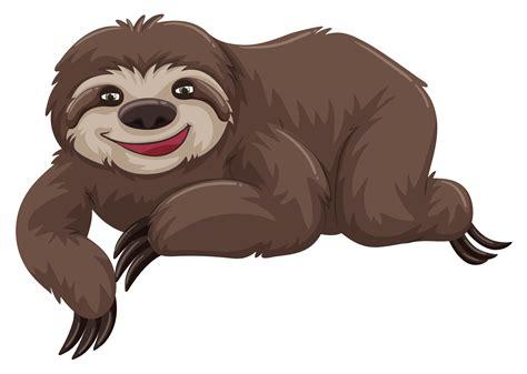 sloth  happy face   vectors clipart
