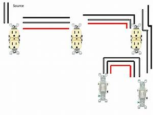 Split Wiring Duplex 3 Way Switch Split Receptacle Wiring Diagram Double Switch Wiring Diagram