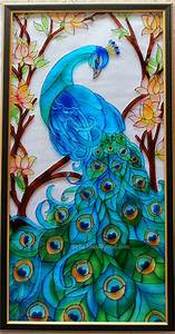 Imprints: Glass Painting - Peacock