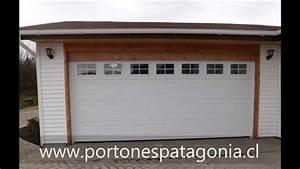 Portones Patagonia Portón de garaje en Chile Portón americano en Chile YouTube