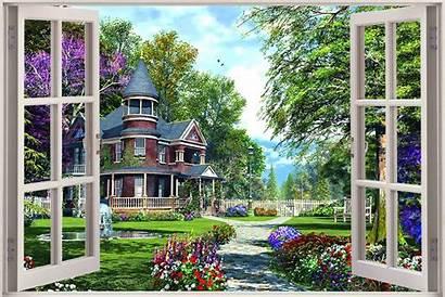 Window Garden Mural Enchanted Sticker Decal Perete