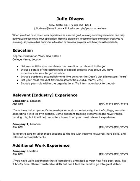 Best To Post Your Resume by 20 Ats Friendly Resume Templates Jobscan