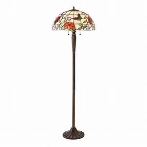 70944 Butterfly Tiffany Floor Lamp