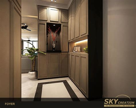 Condo Foyer Ideas by Condo 13 Sky Creation Singapore