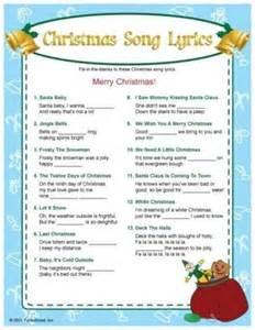 Printable Christmas Song Lyric Game
