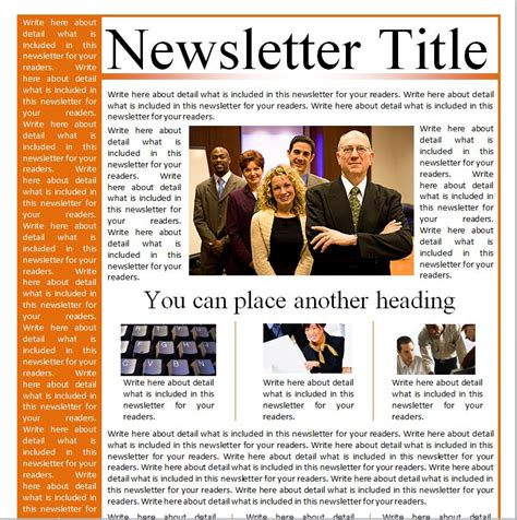business newsletter templates business newsletter