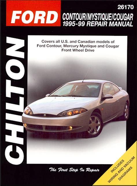 car engine manuals 2000 mercury cougar free book repair manuals contour mystique cougar repair manual 1995 1999 chilton 26170