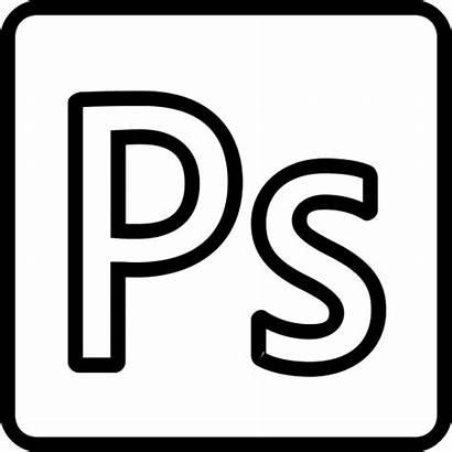 Photoshop Outline Icon Transparent Text Social Icons