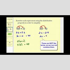 Introduction To The Distributive Property Youtube